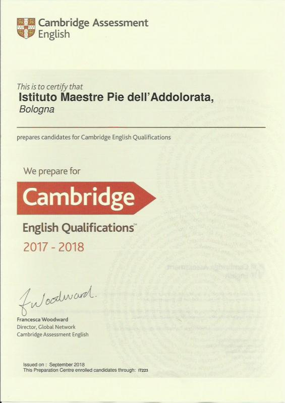 scuole Maestre Pie: Exam preparation Cambridge