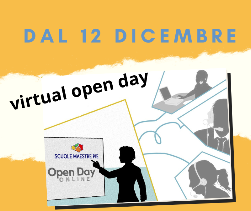 Dal 12 dicembre open day virtuale