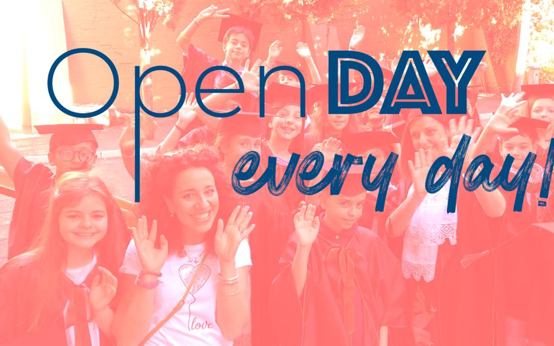 Open Day …every day! Prenota un appuntamento