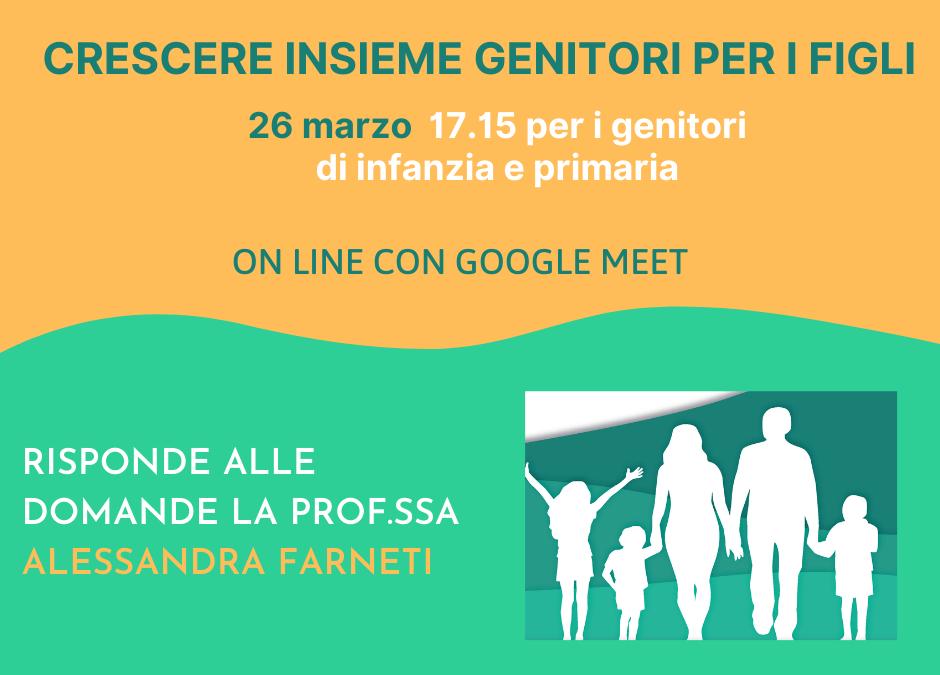 26 marzo Insieme genitori per i figli