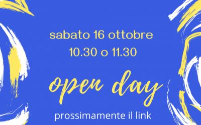 16 ottobre open day