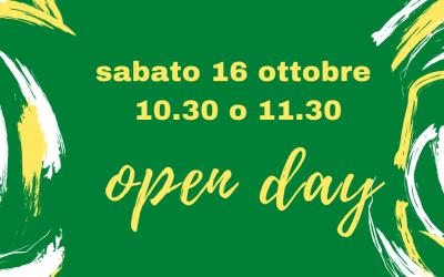 16 ottobre open day – prenotazioni